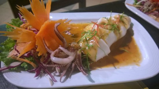 Woraburi Resort Spa Phuket: Calamaro ripieno