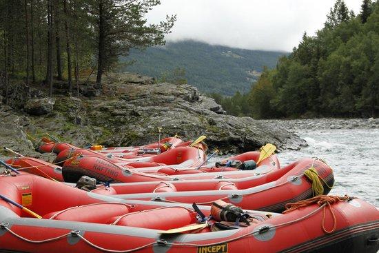 Heidal Rafting Day Trips : The start