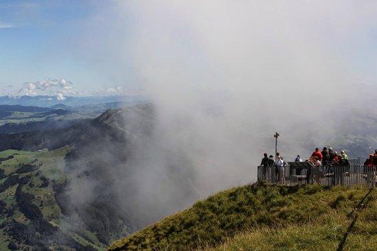 Rigi: view from top of the peak
