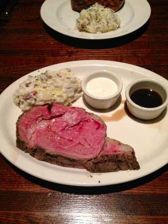 131 Main Restaurant: 12oz Prime Rib, with horseradish and Au Jus, side ...