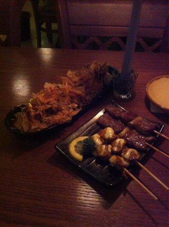 Kushi Japanese Restaurant: Squid ball and skews