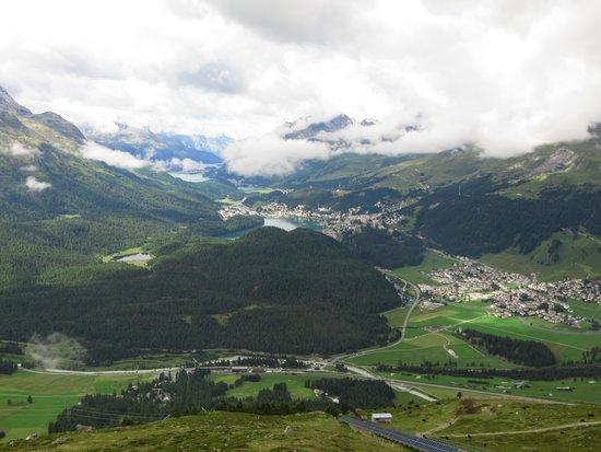 Muottas Muragl : vista su St.Moritz