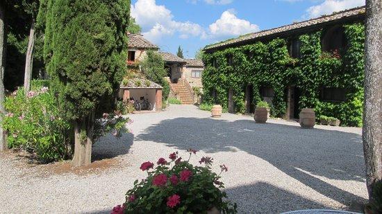 Tenuta di Ricavo: zicht vanuit restaurant