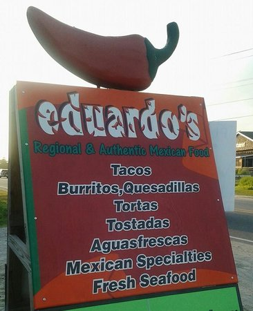Eduardo's Taco Stand: Eduardos Taco Stand sign