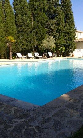 Hostellerie les Frênes : piscine