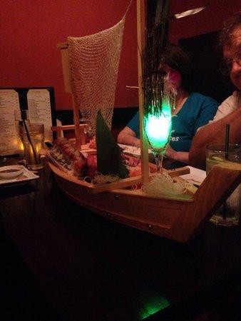 "Kyoto Sushi: The ""Love Boat""...amazing presentation!"
