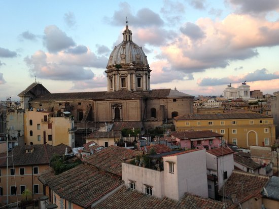Boutique Hotel Campo de Fiori : Rooftop terrace view