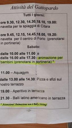 Il Gattopardo Hotel Terme & Beauty Farm: programma 2 agosto 2014