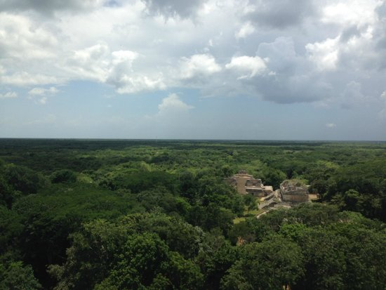 Ek Balam Mayan Ruins: The view from the top!