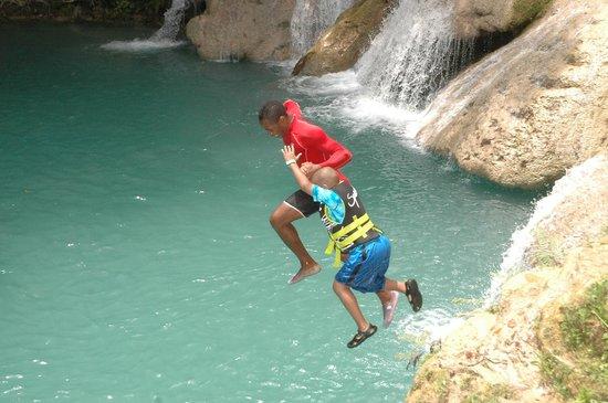Blue Hole : Omar with my nephew