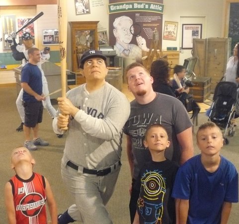 Louisville Slugger Museum & Factory : My boys and man with the Babe