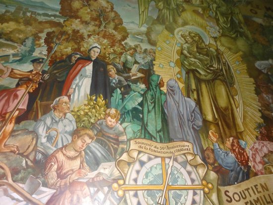 St. Joseph's Oratory of Mount Royal: Mural Interno