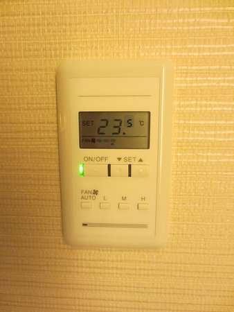 Sheraton Grand Hotel Hiroshima: 個別空調コントローラ