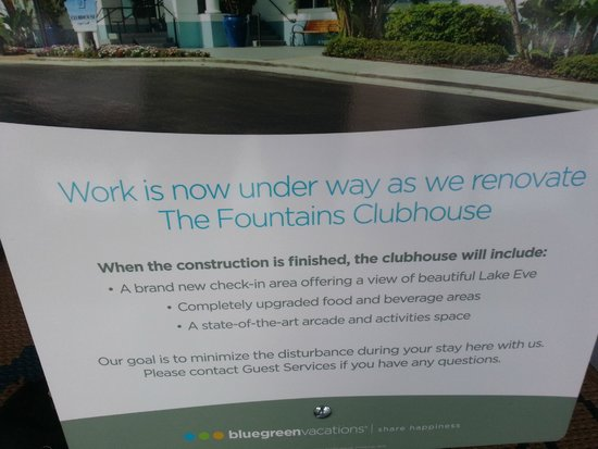 Bluegreen Fountains Resort: Clubhouse