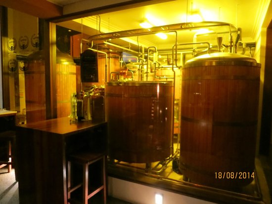 The Generous Squire: Their brewery tanks