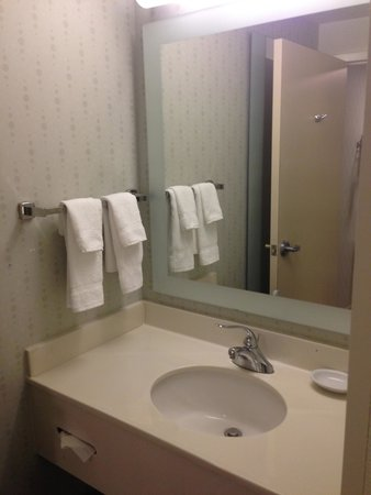 SpringHill Suites Danbury: Sink area (separate from shower)