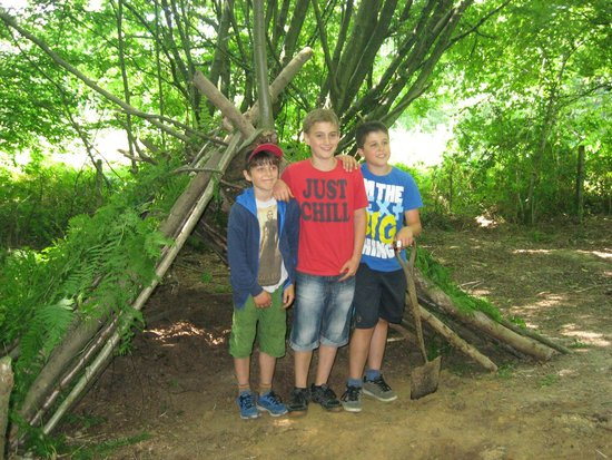 Eco Camp UK - Wild Boar Wood Campsite: Building a Den