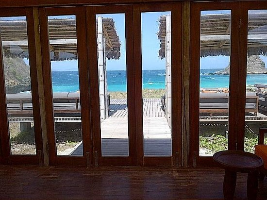 Jeeva Beloam Beach Camp : The view from the dining room