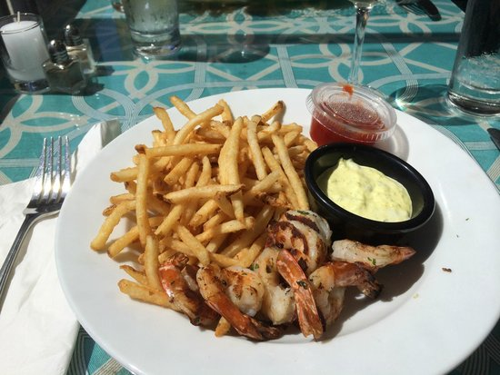 Grilled Shimp and the Best French Fries at Fishbar Montauk - Picture ...