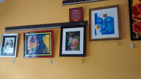 Art Blend Cafe Paintings On The Wall Are For