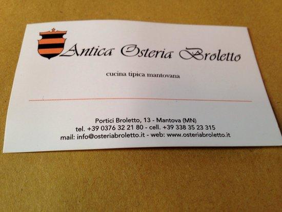Antica Osteria Broletto: Invito...