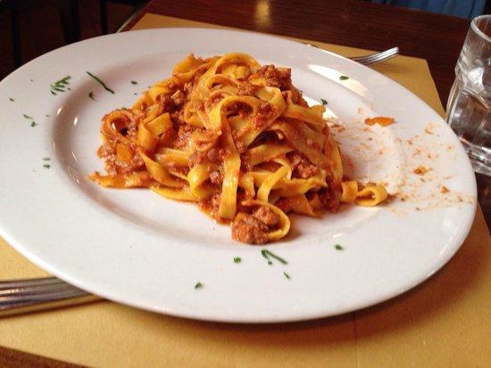 Antica Osteria Broletto: Le tagliatelle.