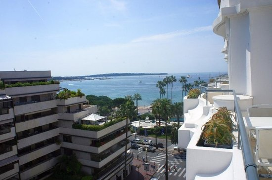 Hotel Barriere Le Majestic Cannes: View from my balcony.