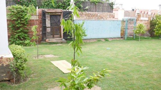 Yoga Guru Karan Singh : jardin arboré très agréable