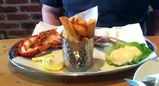 Sole Bay Fish Company: Char grilled lobster and chips :-)