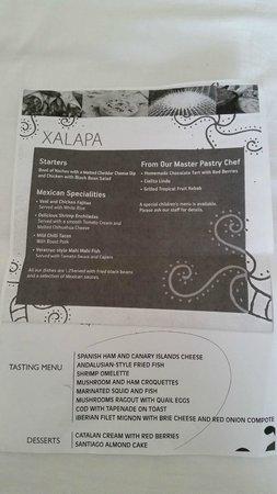 HOVIMA Costa Adeje: Themed Restaurant Menu