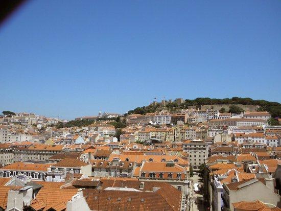 Santa Justa Lift : View at the city