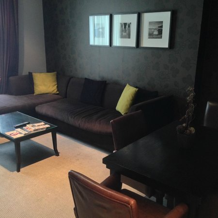 Malmaison Birmingham: lounge area with huge sofa