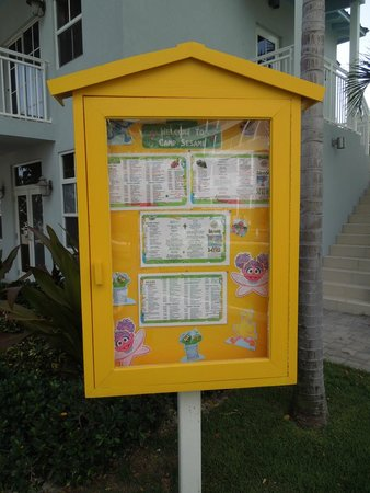 Beaches Turks & Caicos Resort Villages & Spa : Activity boards around the resort list the daily things to do everyday.