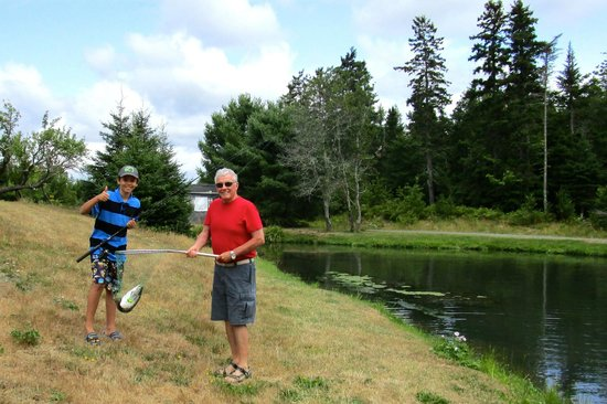 Old Miller Trout Farm: First catch of the day