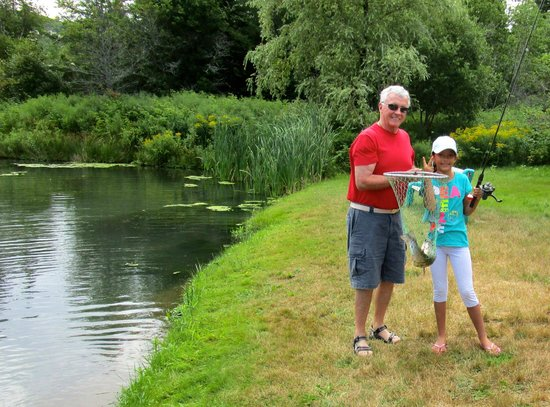 Old Miller Trout Farm: Second catch of the day