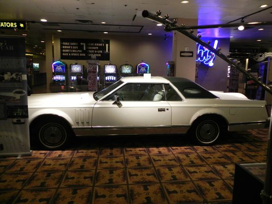Top of Binion's Steakhouse : Elvis Presley's car in the lobby on 1st floor.