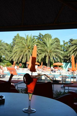 Hotel Oasis: piscina desde el bar