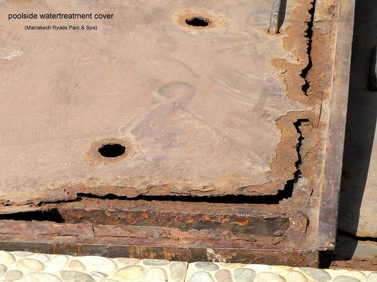 Marrakech Ryads Parc & Spa : Rusted Waterpump cover