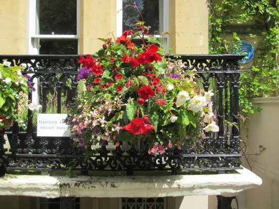 Flowers in front of Hanover House