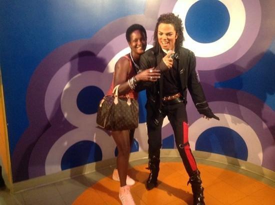 Madame Tussauds Washington D.C.: me and MJ