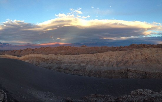 Valle de la Luna - Valle de la Muerte : Atardecer en valle de la luna