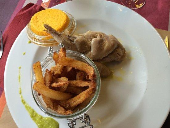 Restaurant du Lac : Lapin confit huile d'olive