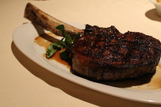 Council Oak Steaks & Seafood : Long Bone Cowboy Ribeye