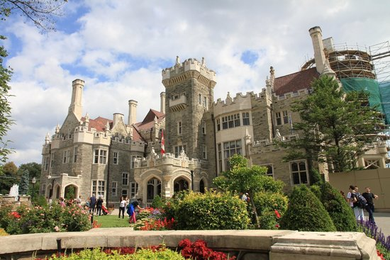 Here is the face of the Casa Loma Castile