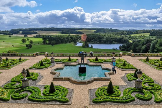 Harewood House: Breathtaking views from the house terrace