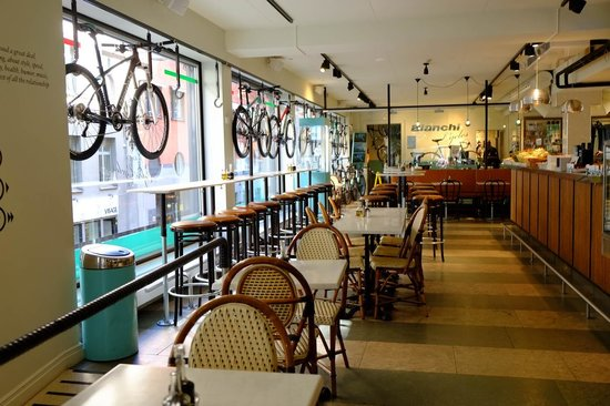 Photo of Italian Restaurant Bianchi Cafe & Cycles Stockholm AB at 20 Norrlandsgatan, Stockholm 111 43, Sweden