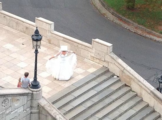 Bastion des pêcheurs : Una novia recien casada vista des de Bastion pescadores