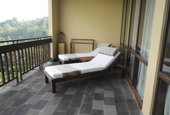 Komaneka at Bisma : La terrasse de notre suite