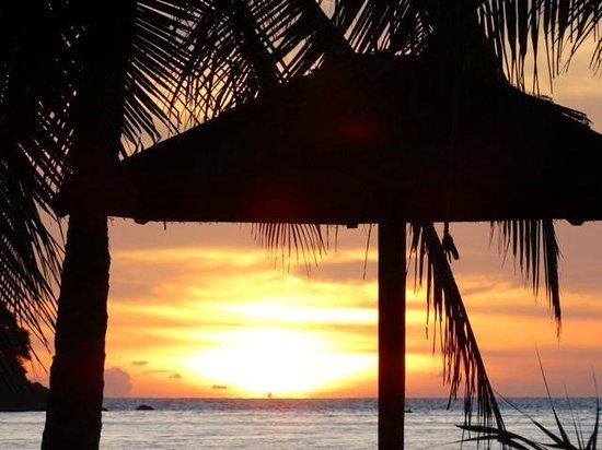 Nexus Resort & Spa Karambunai : coucher du soleil