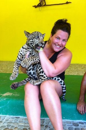 Vallarta Zoo: playing with he baby Jaguars